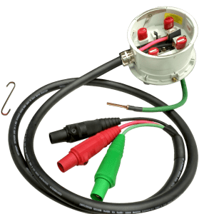 300-amp meter head assembly with RESTORE-LITE® cord set and lever bypass adapter.